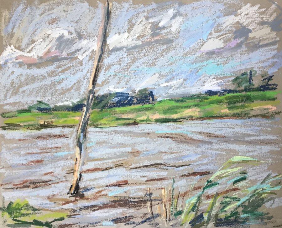 Pastelle Norddeutsche Landschaft 1