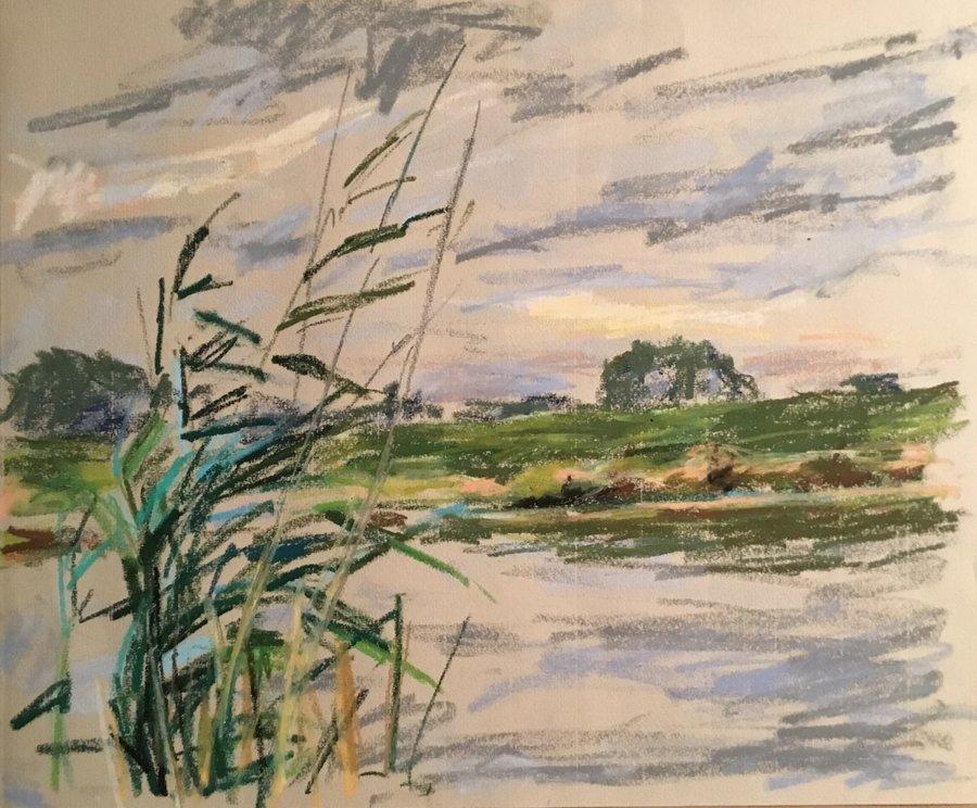 Pastelle Norddeutsche Landschaft 2