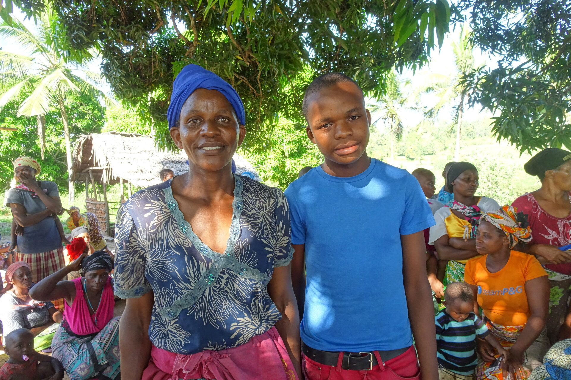 Stephen mit Mutter