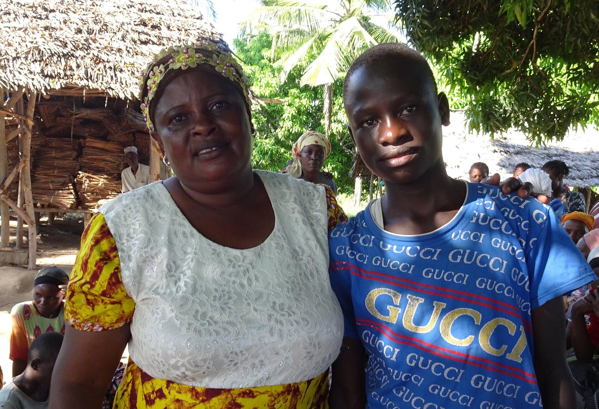 Shedrack mit seiner Tante Elizabeth