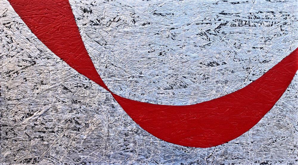 """""""Schnittmengen zweier Kettenlinien in Rot"""""""