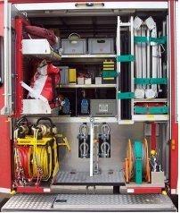 hier finden Sie z.B.  Hydraulikaggregat mit Rettungsschere  und Spreitzer, Mehrzweckzug (MZ 32),  Satz Hebekissen, Rettungsplattform