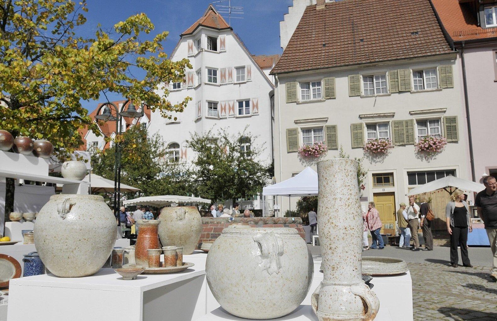 Töpfermarkt in der Hüfinger Altstadt