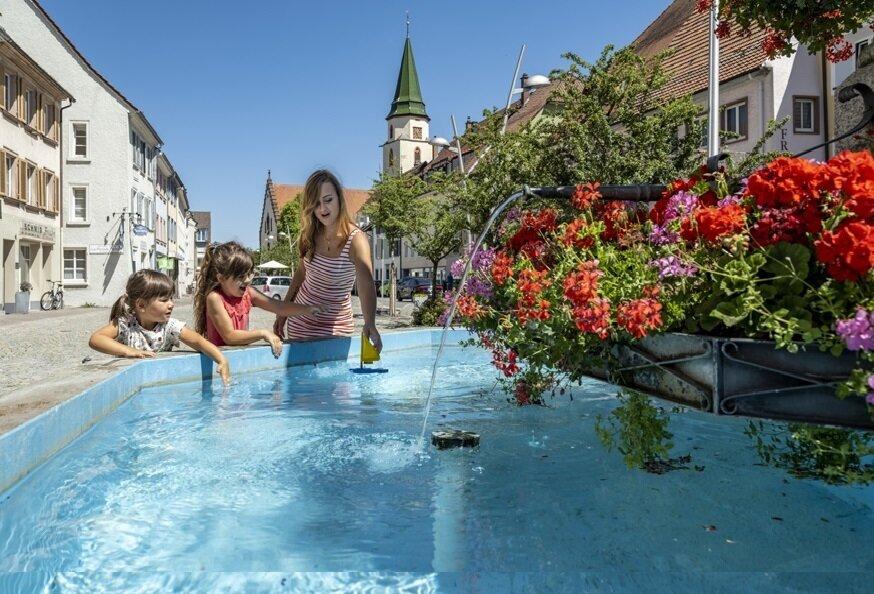 Stadtbrunnen auf dem Rathausplatz