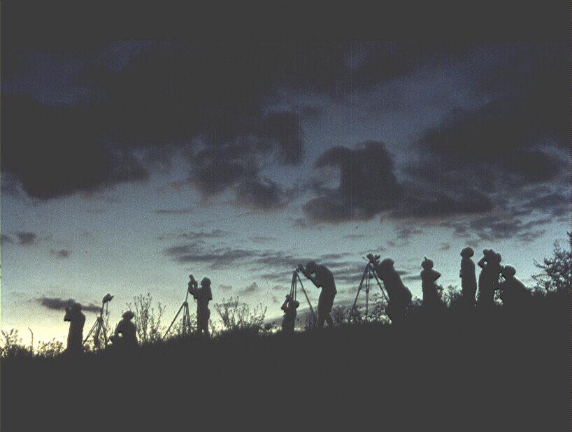 Dunkelheit während der Totalitätsphase
