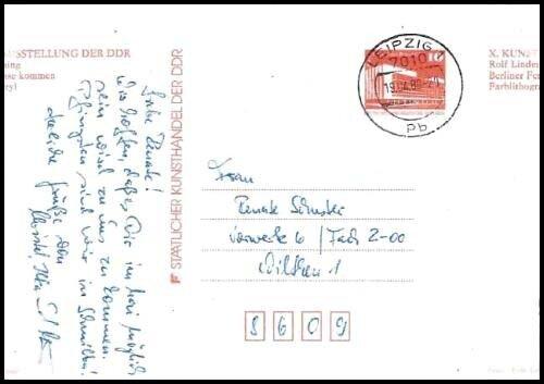 X. Kunstausstellung 1987 Fehldruck