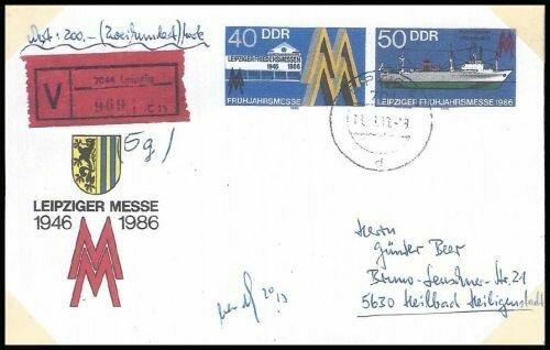 Frühjahrsmesse 1986 als Wertpostbrief verwendet