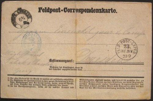 Sächsischen Feldpoststempel 10