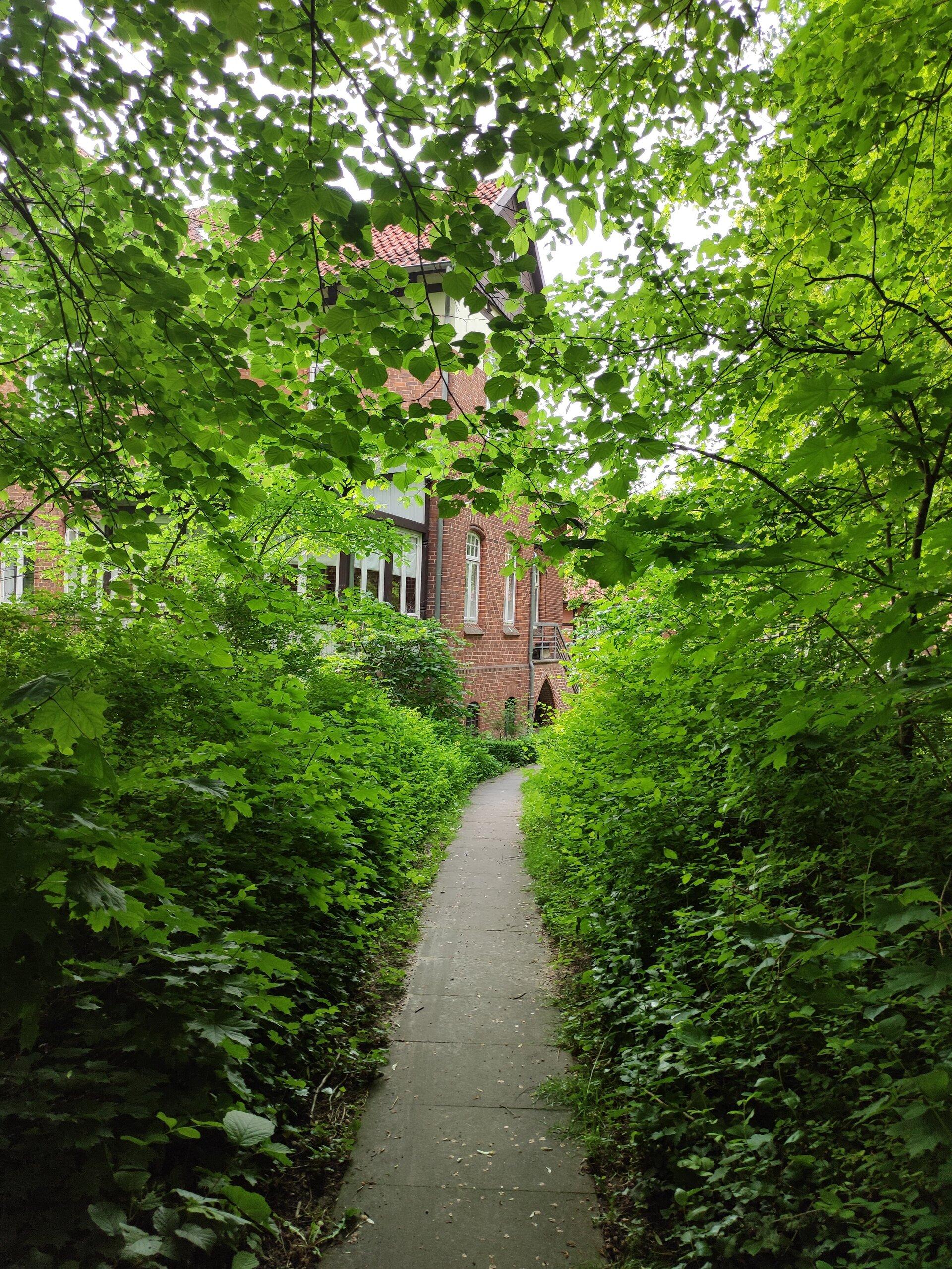 Weg zum Gemeindehaus
