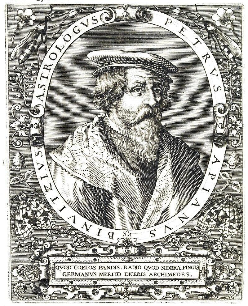 Peter Apian (Kupferstich von Theodor de Bry)