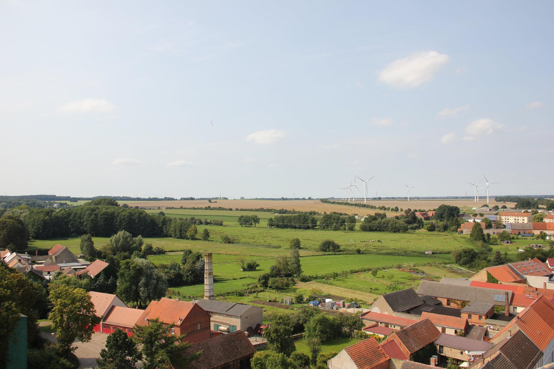 Blick in Richtung Meyenburg