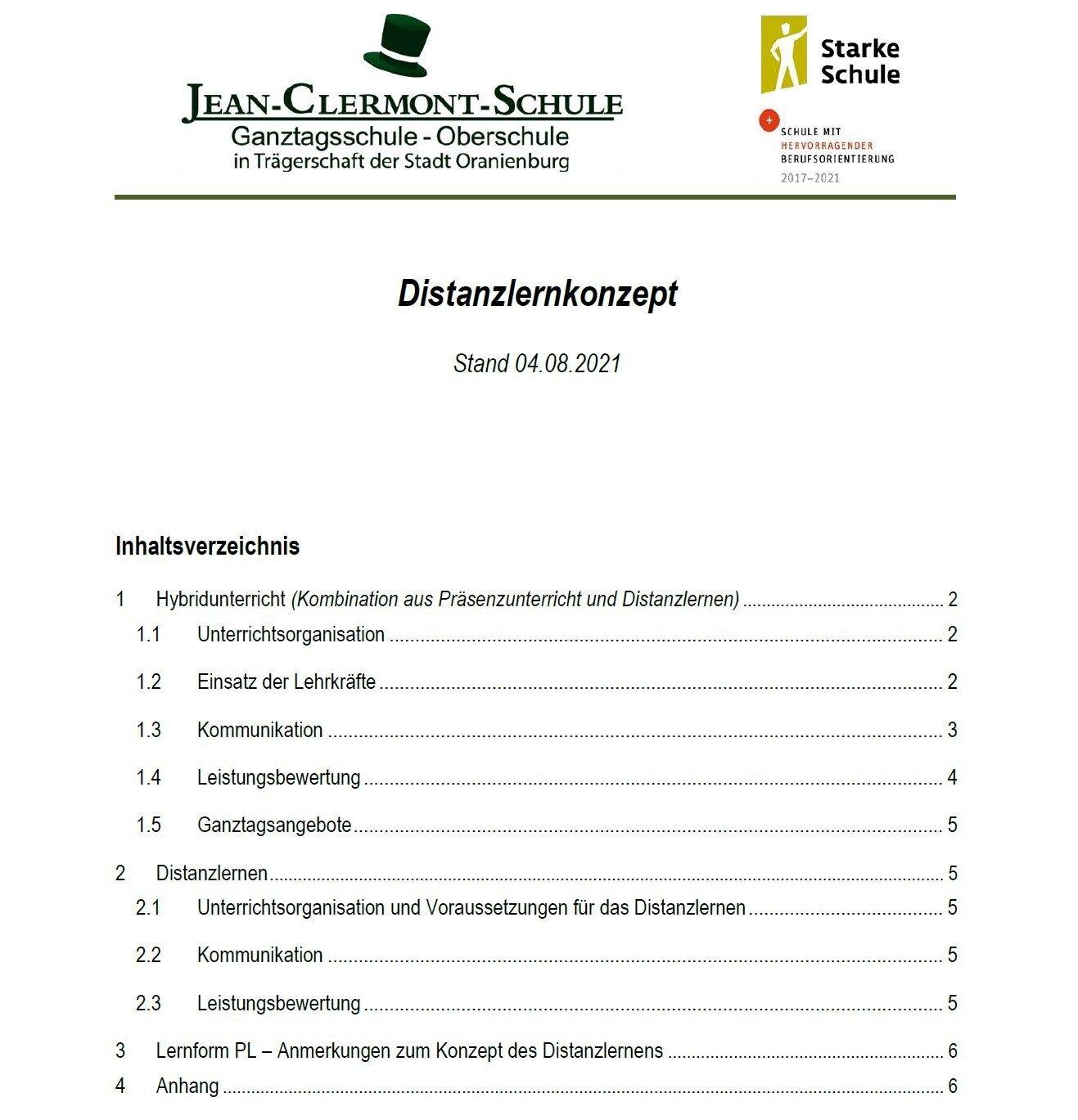 2021-2022 - Distanzlernkonzept