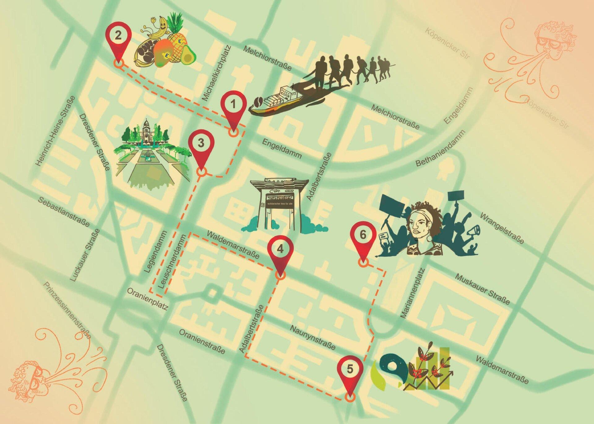 Karte Audioguide