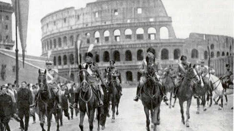 March on Rome (October 28, 1922). http://pensalibero.it/wp-content/uploads/2017/09/marcia-su-roma-750x420.jpg