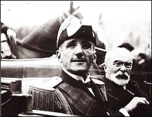 King Aleksandar and French minister of Foreign Affairs Monsieur Louis Barteau,  moments before assassination;  https://en.wikipedia.org/wiki/File:1934-10-17_King_Alexander_Assassination.ogv
