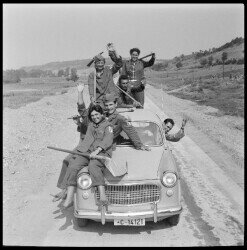 Youth Working Action – construction of the highway in 1959. Courtesy of the Museum of Yugoslavia.