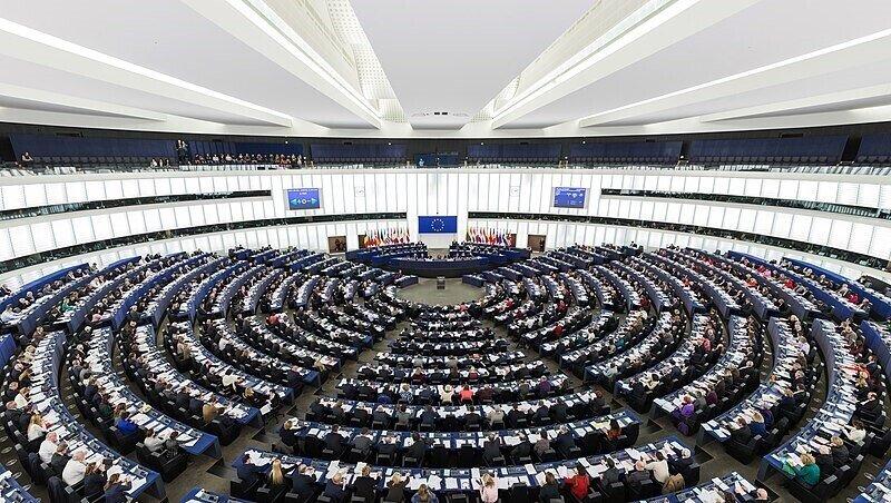 Eurpopean Parliament Strasbourg Hemicycle https://commons.wikimedia.org/wiki/File:European_Parliament_Strasbourg_Hemicycle_-_Diliff.jpg