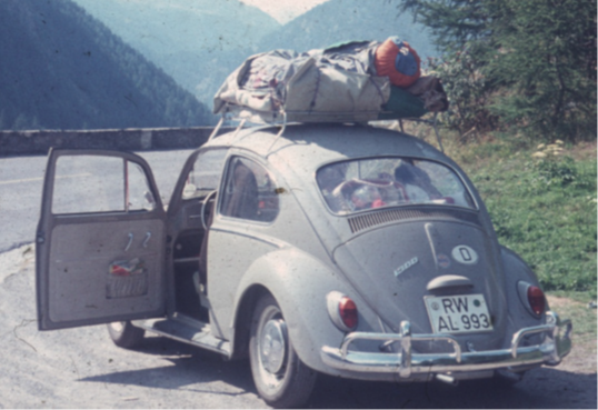 A German family on their way to Italy in the early 60s. Photographer: private by Horst Buchmann