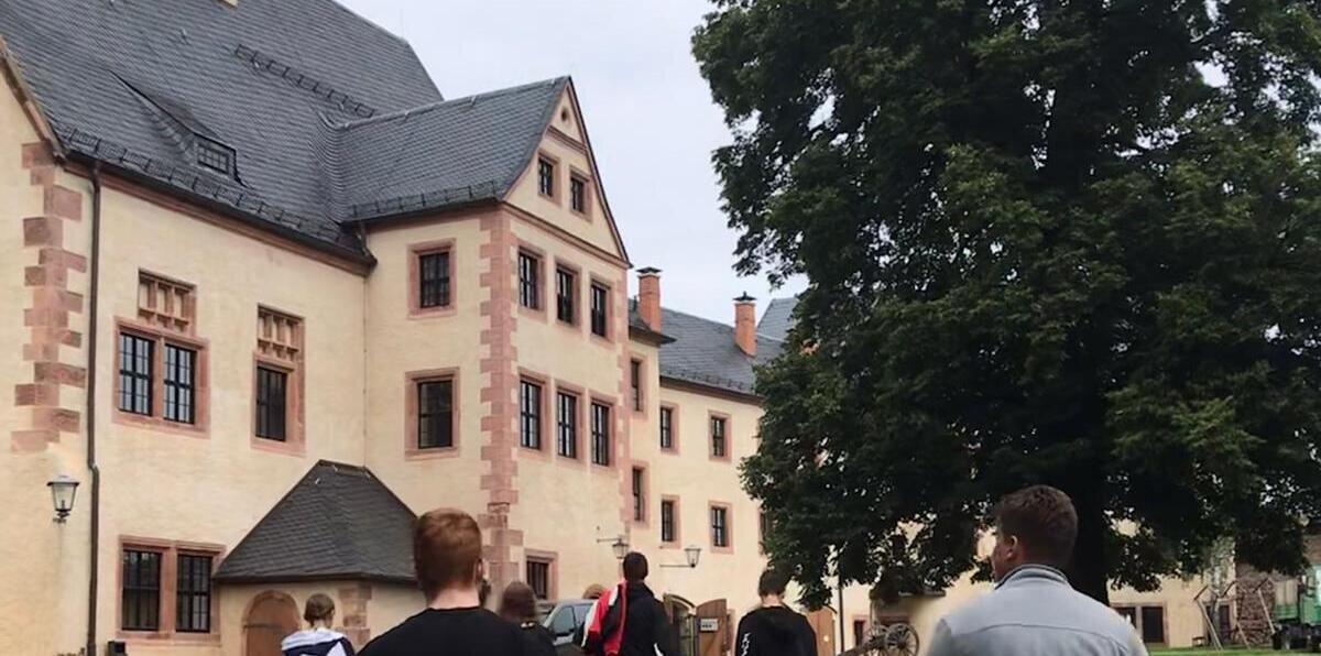 Innenhof der Burg Mildenstein