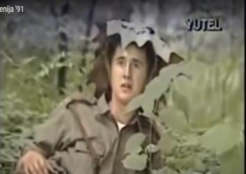 Interview with Yugoslav Army soldier, Slovenia June 1991; Screenshot: https://www.youtube.com/watch?v=xsaQKJKeggo