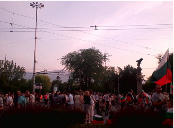 The Protest in Sofia.  Author: Bojidara Ilieva