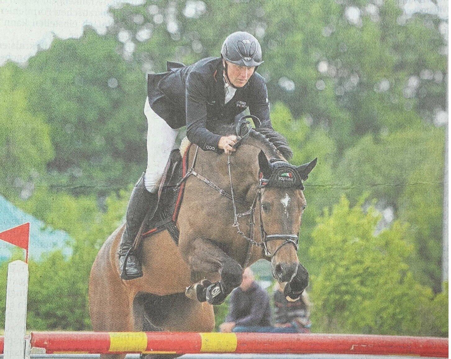 Derbysieger Andre Thieme siegte am vergangenen Wochenende in Grabow in beiden Springen der schweren Klasse