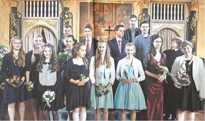 14 Konfirmanden wurden am Pfingstsonntag in der Neustädter Kreuzkirche konfirmiert