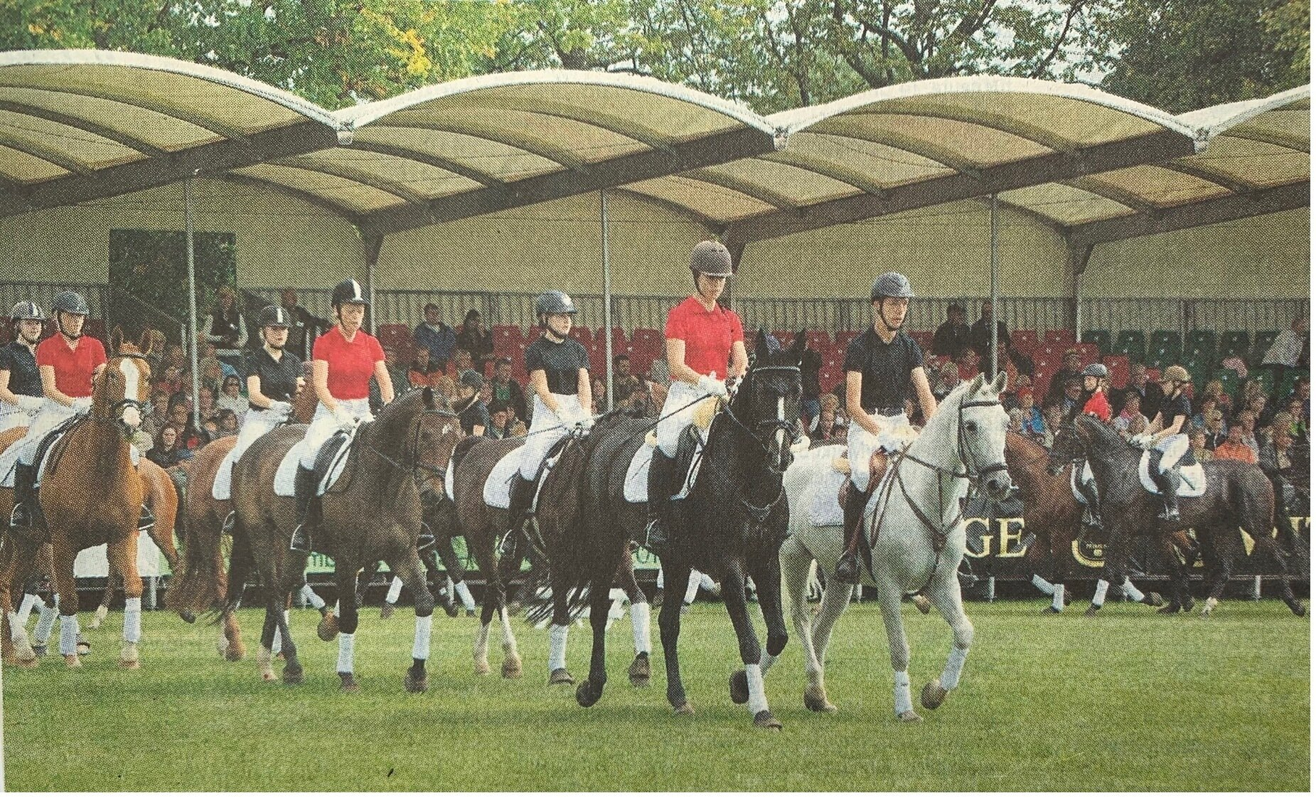 Am Show-Programm waren 120 Pferde sowie 160 Reiter beziehungsweise Darsteller beteiligt