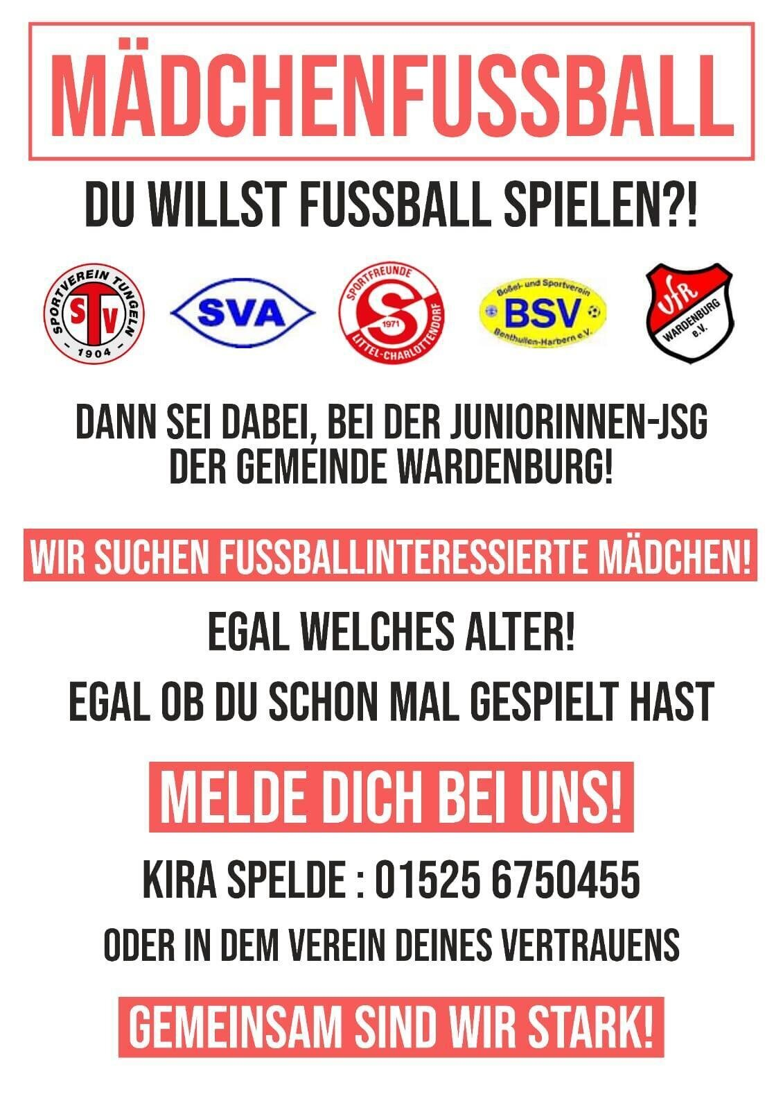 JSG Wardenburg Mädchenmannschaft