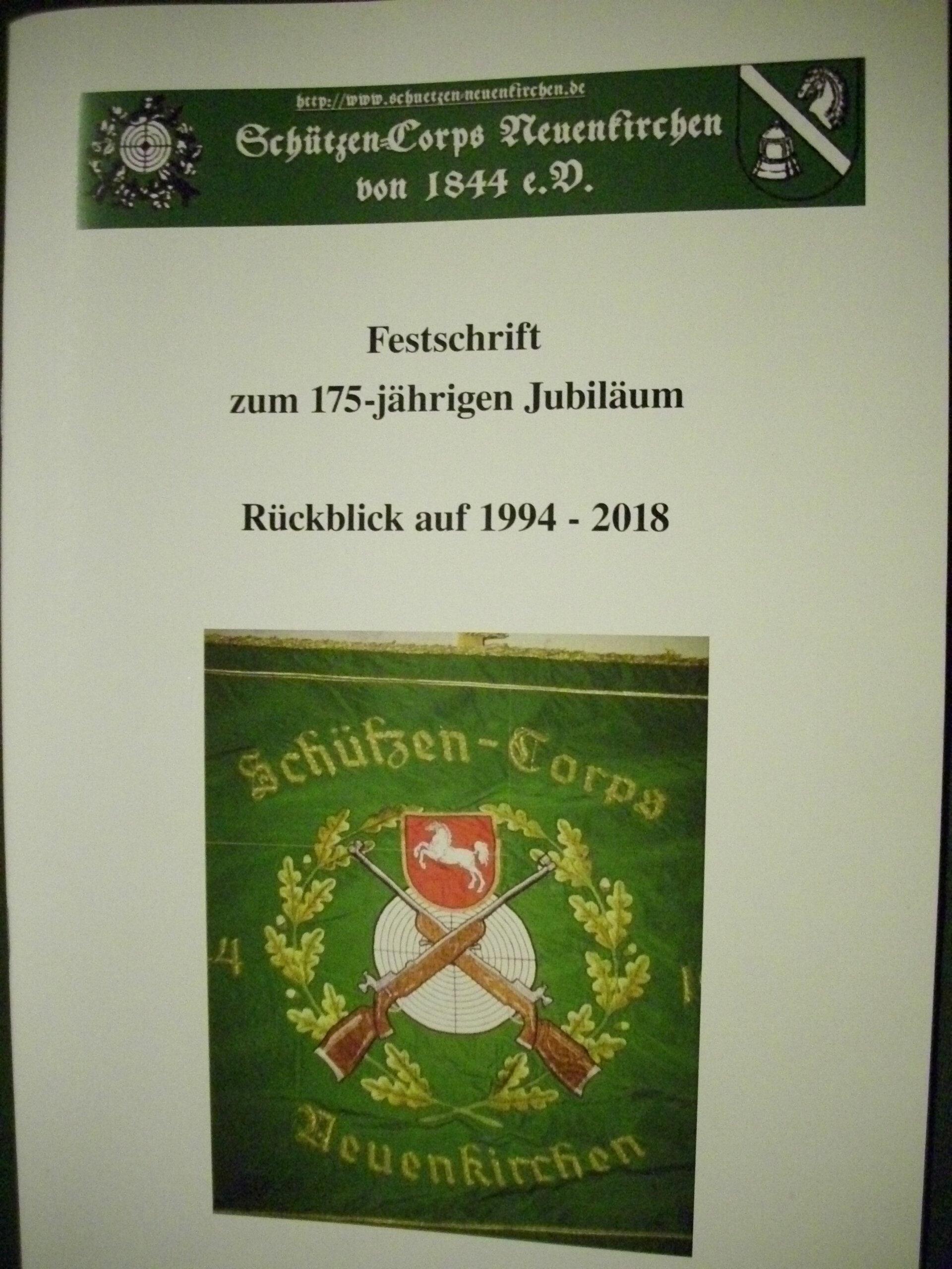 Festschrift zum Vereinsjubiläum