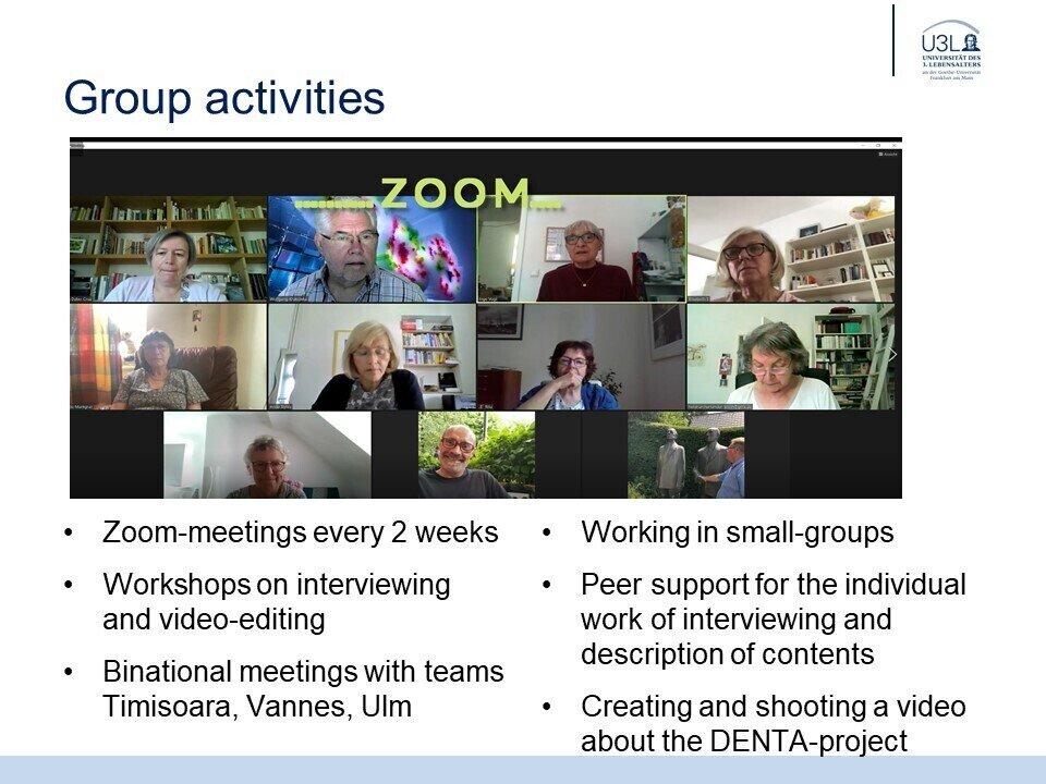 Group activities Frankfurt