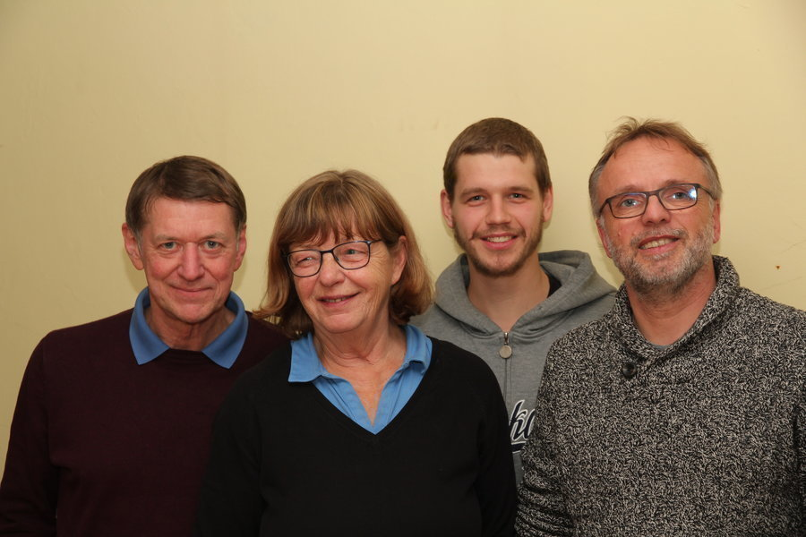 v. l. Axel Kleinschmidt, Alexa vom Berg, Andreas Kirchhoff, Hermann Kirchhoff