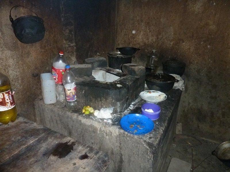 Die Kochstelle der Familie Urbina