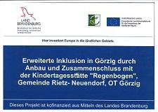 Baumaßnahme:Erweiterte Inklusion in Görzig durch Anbau und Zusammenschluss mit der Kindertagesstätte