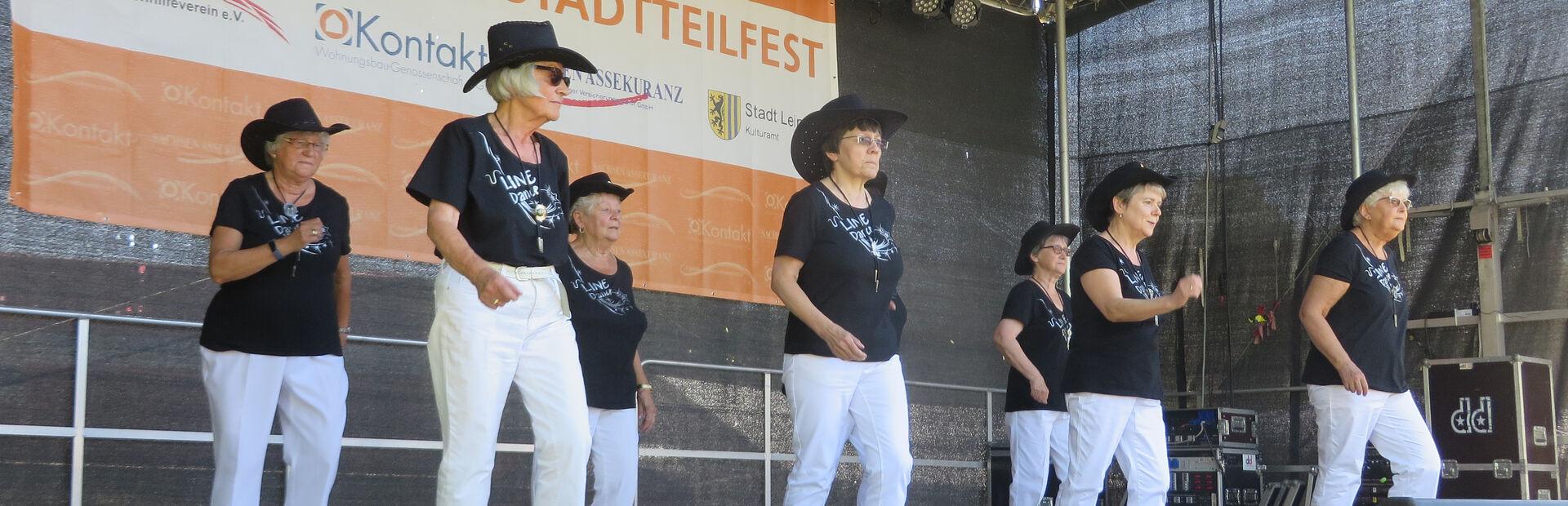 Aktive Senioren Leipzig Auftritt Line Dance