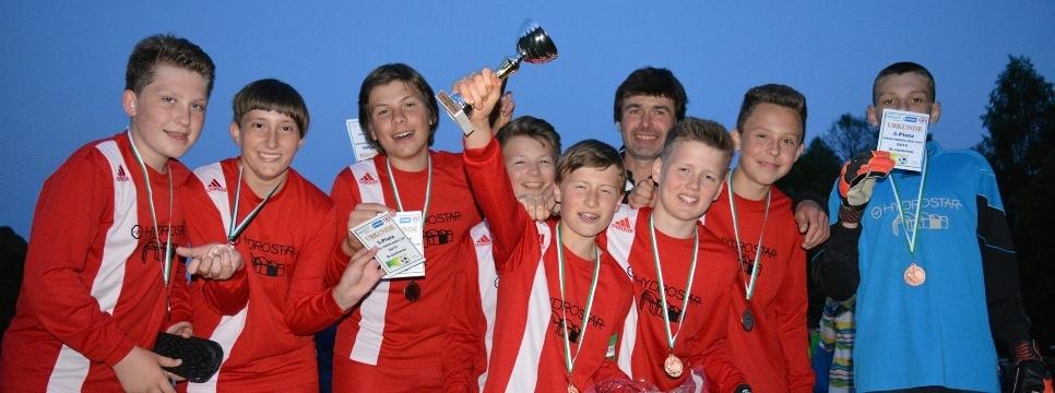 D-Junioren nach Turniersieg in Herwigsdorf