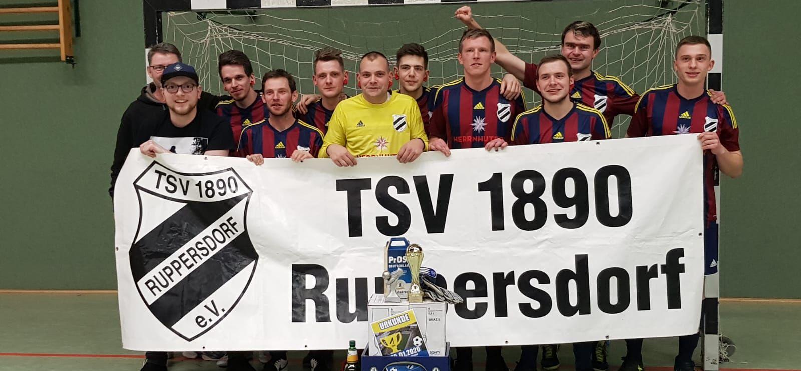 1. Platz Halle Ostritz, Männermannschaft TSV 1890 Ruppersdorf, Januar 2020