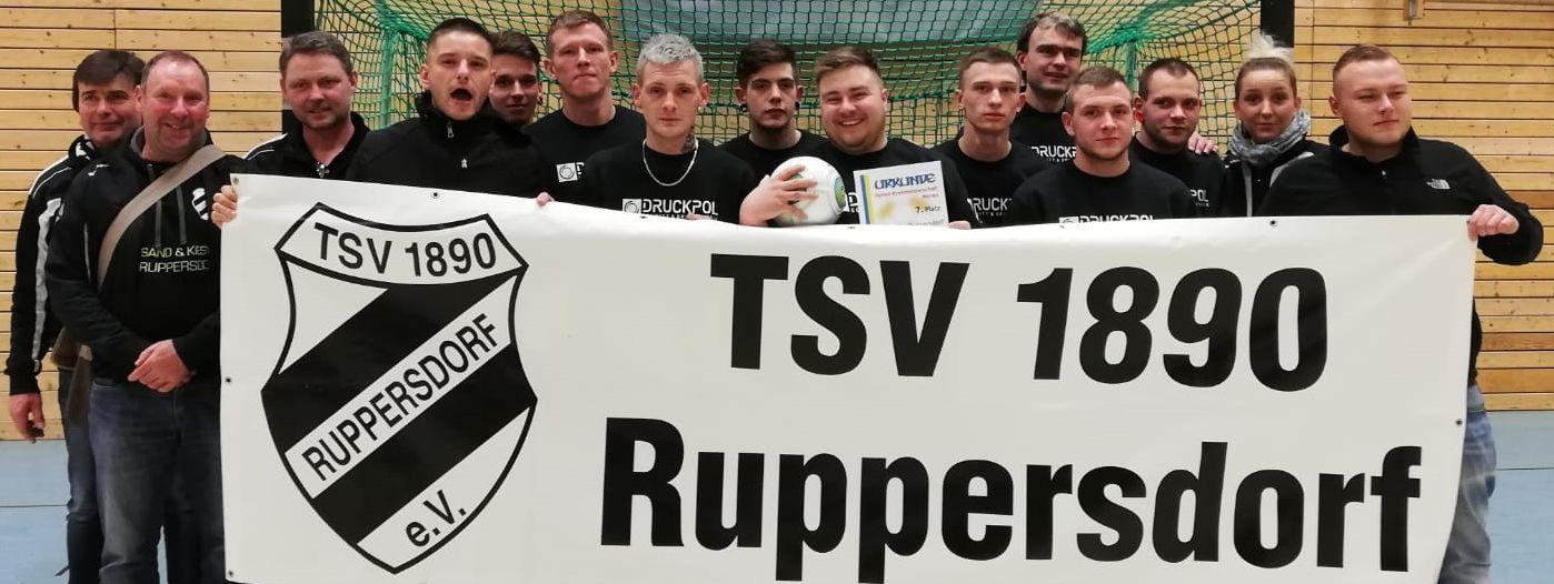 7. Platz HKM Endrunde 18/19, Männermannschaft TSV 1890 Ruppersdorf, Januar 2019