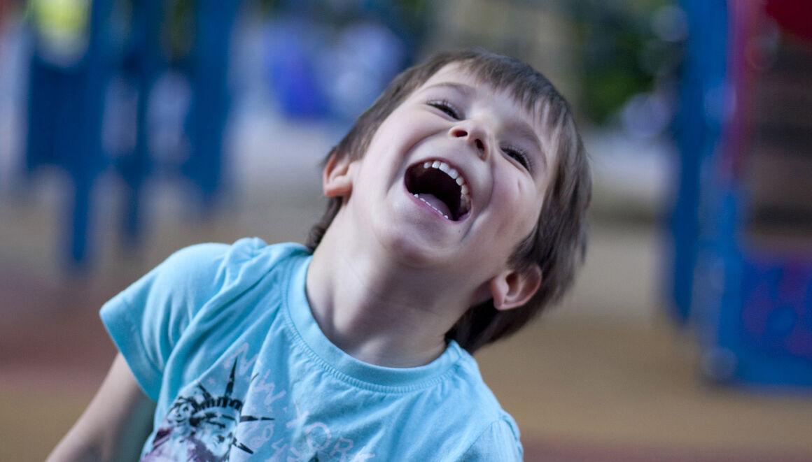 boy smiles
