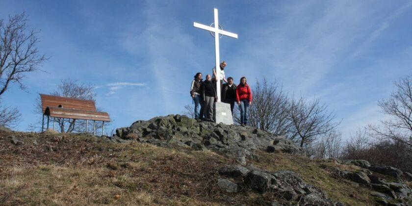 Weiselbergspitze mit Besuchern