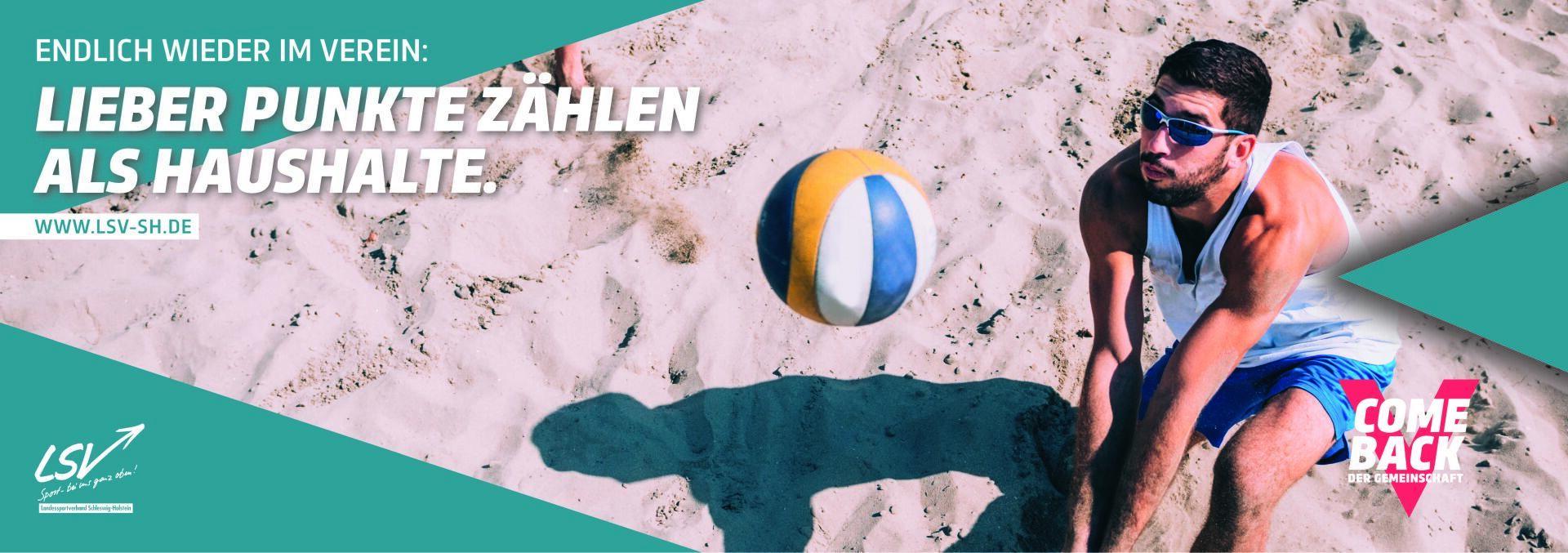 Werbebanner Punkte zählen Volleyball