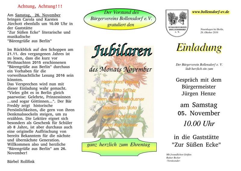 neuenhagen-bei-berlin.de - bürgerverein bollensdorf e.v., Einladung