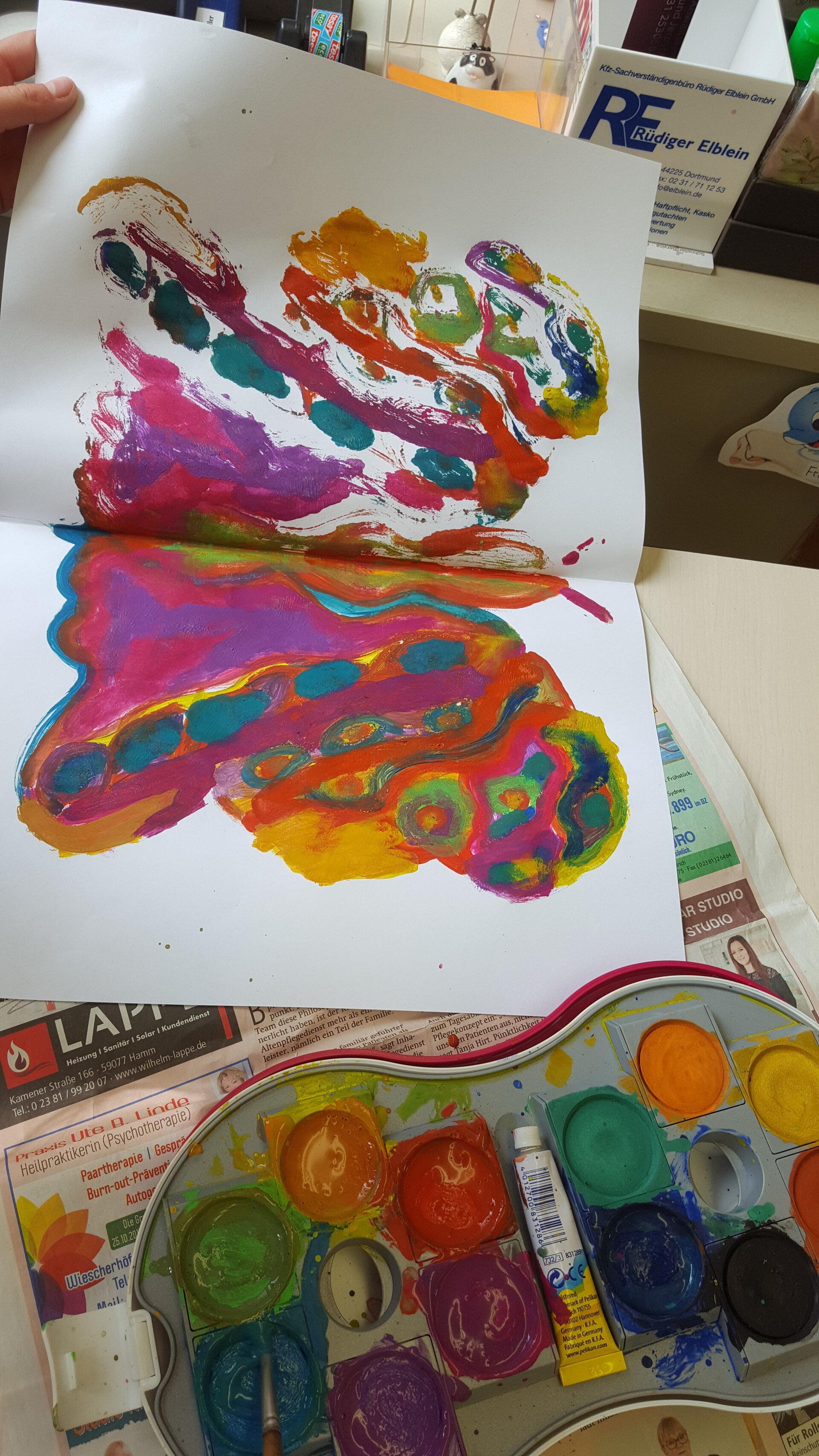 Schmetterlingsmalerei