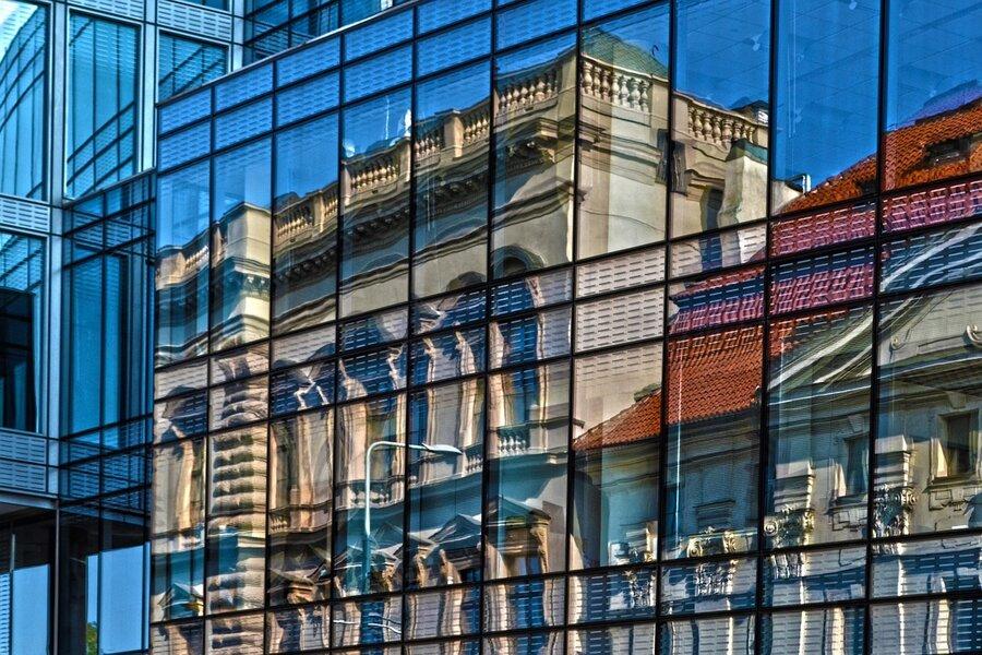 Spiegel-Fenster-Glasbruch