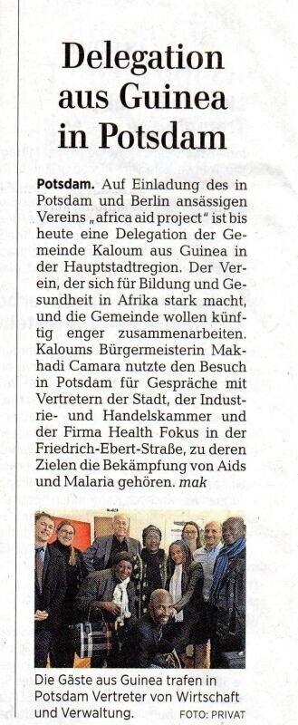 Delegation aus Guinea in Potsdam