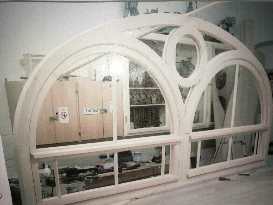 Bau historisches Holzfenster