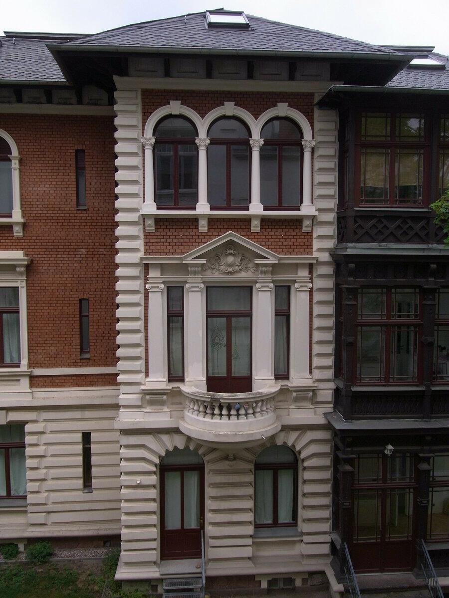 historische Fassade - historische Fenster