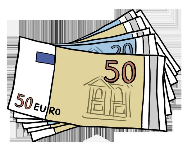 Bild zeigt viele Geldscheine