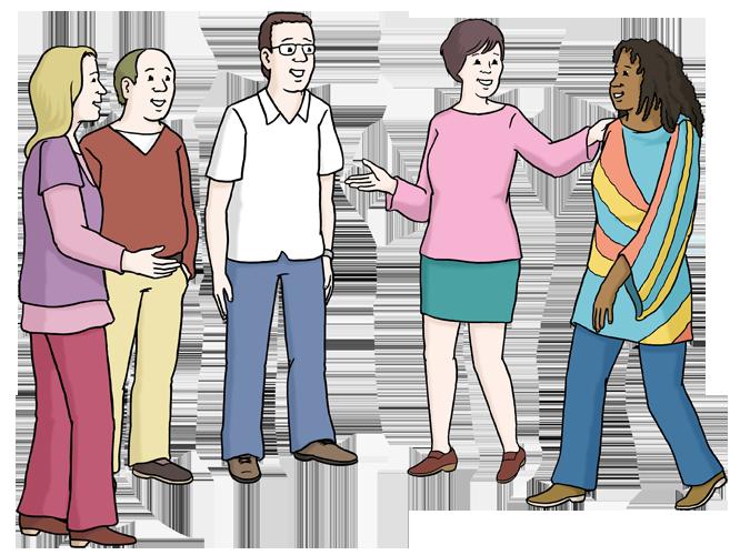 Bild zeigt eine Gruppe verschiedener Menschen