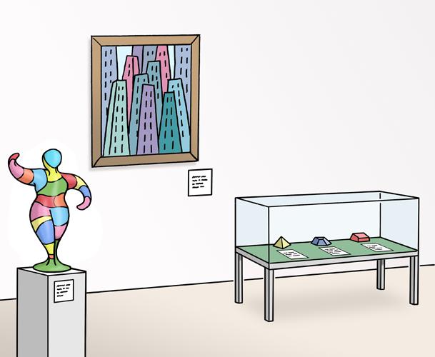 Bild zeigt eine Kunstausstellung